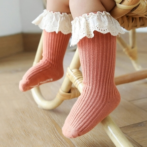 Baby / Toddler Solid Hollow Out Lace Middle Socks