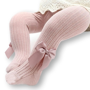 Baby / Toddler Bowknot Solid Tights