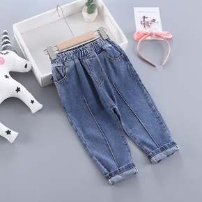 Toddler Casual Solid Denim Jeans Pants