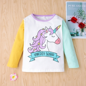 Baby / Toddler Unicorn Colorblock Long-sleeve Tee