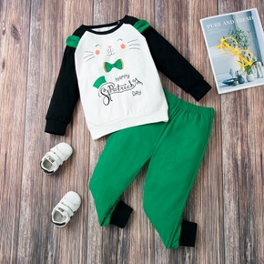 2-piece Baby / Toddler Cutie Animal Top and Pants Set of St. Patrick's Day