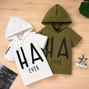 Toddler Boy Letter Hooded Casual Top