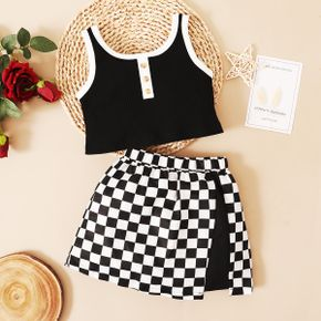 Baby / Toddler Girl Chic Camisole and Plaid Skirt Set