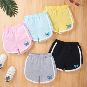 Toddler Girl Butterfly Print Shorts