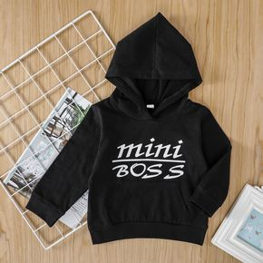 1pc Baby Boy Long-sleeve Cotton Hooded  casual Letter Pullovers & Hoodies