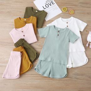 Baby / Toddler Casual Basic Solid Tee and Shorts Set