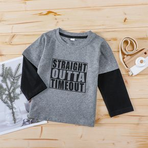 1pc Baby Boy Long-sleeve Cotton casual Letter Tee