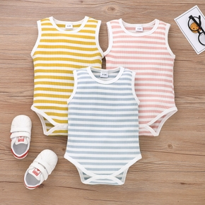 Baby Striped Sleeveless Romper