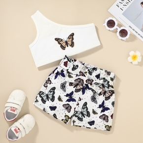 2-piece Toddler Girl Butterfly Camisole and Shorts Set