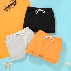 1pcs Baby Boy Cotton Summer Solid Knitted Pants Shorts