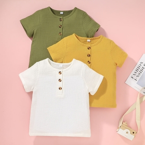 Toddler Boy Casual Solid Tee