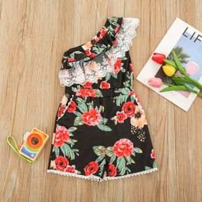Toddler Girl Floral Print Jumpsuit