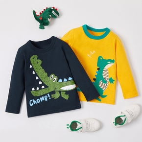 Baby / Toddler Boy Cartoon Dinosaur Print Long-sleeve Tee