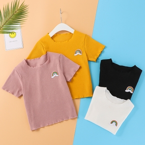 Baby/Toddler Rainbow Solid Tee with Wood Ear