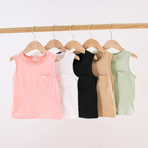 Baby/Toddler Solid Pocket Casual Camisole
