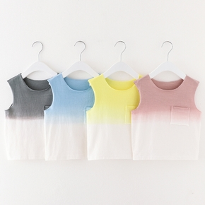 Baby / Toddler Casual Solid Tie Dye Camisole Top