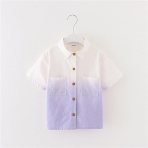 Toddler Boy Chic Tie Dyed Purple Shirt