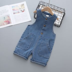 Toddler Chic Sleeveless Denim Jumpsuit