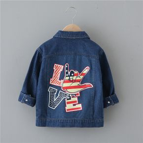 Toddler Independence Day Print Denim Jacket