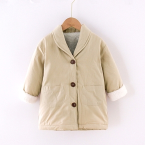 Baby / Toddler Casual Solid Fluffy Long-sleeve Coat