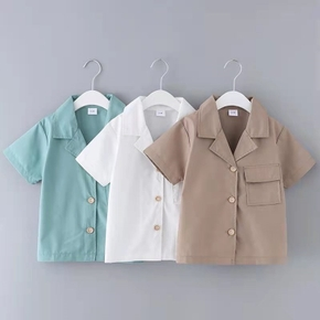 Toddler Boy Fashionable Solid Shirt