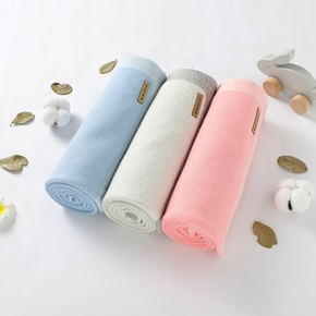 Baby Solid  Swaddle Double Layers Cotton Blankets Soft Sleeping Blanket Wrap Set Newborn Baby Bedding Stuff