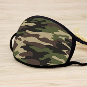 Camouflage Pattern Printed Face Mask