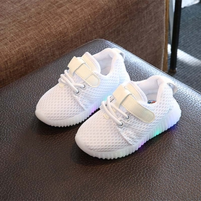 Stylish Velcro Net Surfaces LED Casual Shoes for Toddler / Kid