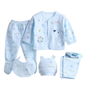 5-piece Hedgehog Print Top and Pants Set