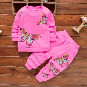 Baby / Toddler Butterfly Patterned Sweatshirt and Pants Set