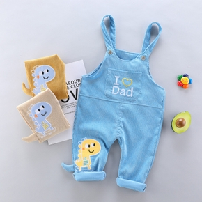 1pc Solid Baby Boy Cotton Spring Summer Pants Overalls Jumpsuit