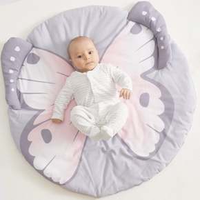 Soft Butterfly Pattern Play Mat for Baby