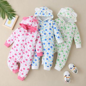 Baby Polka Dots Hooded Jumpsuit