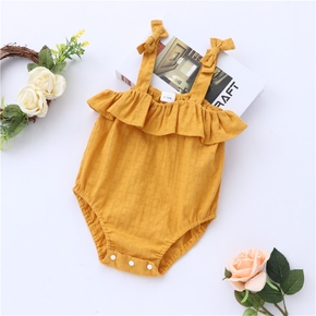 100% Cotton Solid Yellow Baby Sling Romper