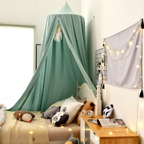 Kids Baby Bedding Dome Bed Canopy Bedcover Mosquito Net Curtain Baby Room Decoration Round Crib Net Credit shading Photo Prop