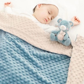 Explosive Thick Peas Blanket Newborn Cover Four Seasons Double Layer Quilt Children Peas Super Soft Colored Blanket