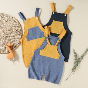Toddler Chic Casual Colorblock Overalls
