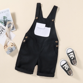 Toddler Chic Solid Casual Overalls with Pocket