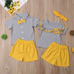 2-piece Baby / Toddler Casual Solid Top and Shorts Set