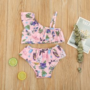 2pcs Baby Girl Floral Swimsuits