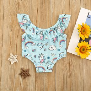 1pc Baby Girl Clouds Swimsuit