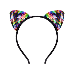 Adorable Cat Ear Sequined Headband for Girls