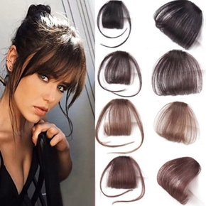 Clip In Bangs Human Hair Air Bang Brazilian Hair Pieces Invisible Seamless Non-remy Replacement Hair Wig