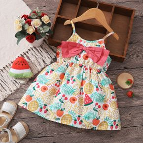 Colorful Fruit Print Baby Sling Dress
