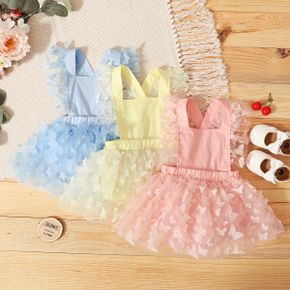 1pc Baby Girl Suspender Butterfly Mesh Solid res