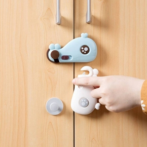 Cartoon Whale Drawer Cabinet Cupboard Baby Safety Locks Baby Kids Safety Care Plastic Locks Infant Baby safety Protection