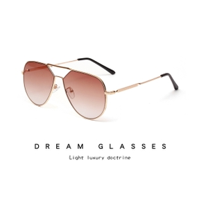 Lady Vintage Metal Gradient transparent Men's Pilot Sunglasses Driving Black Mirror Lady Shade Sunglasses