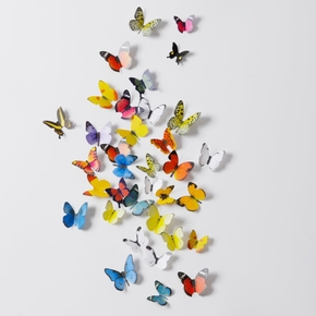 19-piece 3D Pretty Butterfly Wall Stickers Beautiful Butterfly for Kids Room Wall Decals Home Decoration On the Wall