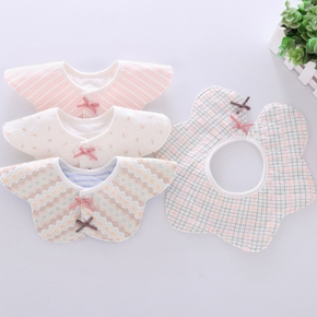 1-pcs Lovely Cartoon Striped Design Rotatable Baby Bibs Set