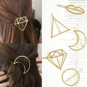 5 Pack Geometry Hair Clips